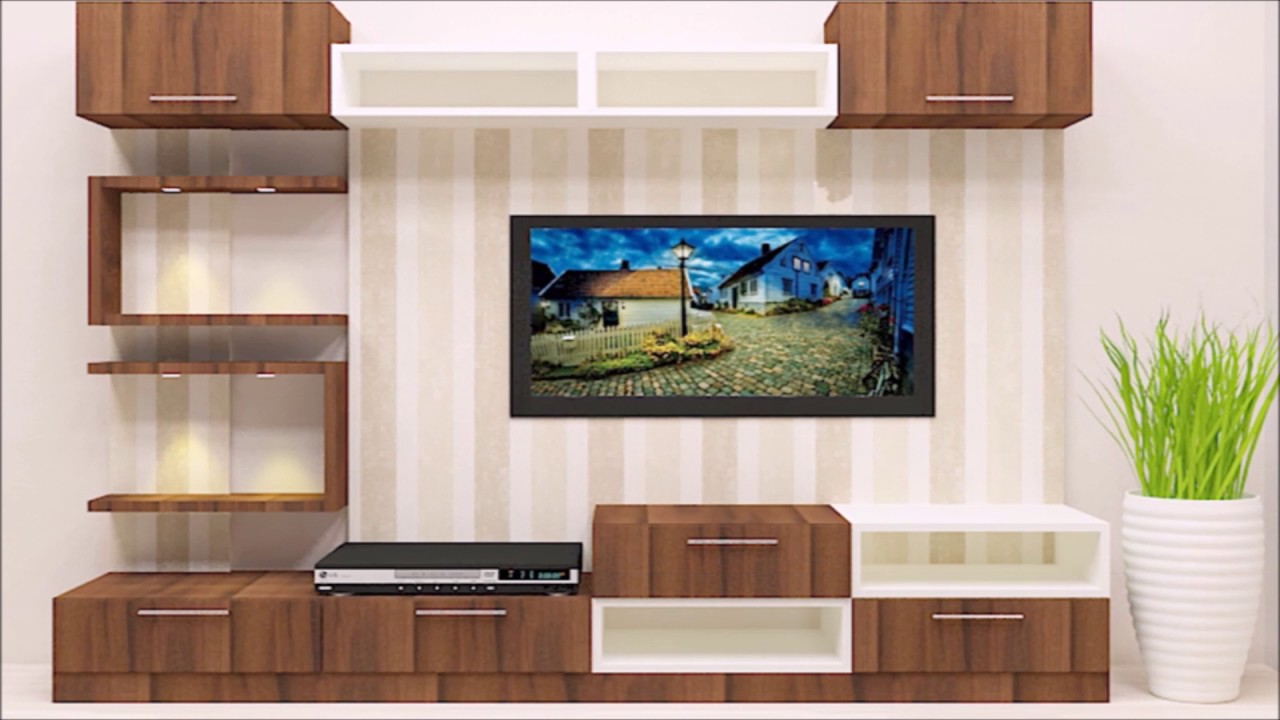 Beau TV Unit U0026 Cabinet Designs For Livng Room Online In India   YouTube