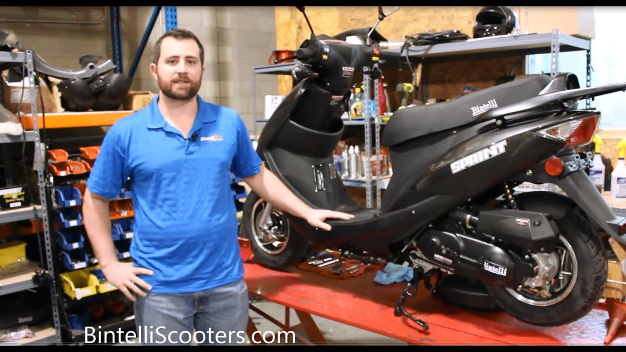 How to Change the Oil on a 49cc Scooter - Chinese QMB139 Engine - By  Bintelli Scooters