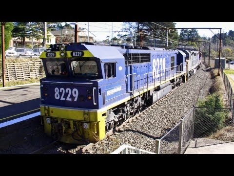 4 Locomotives in 4 Different Liveries - Australian Trains, New South Wales