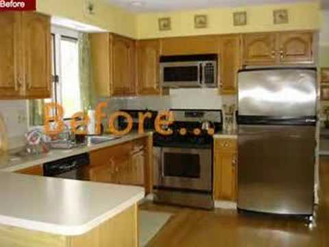 New Look Kitchen Cabinet Refacing ny long island nyc - YouTube