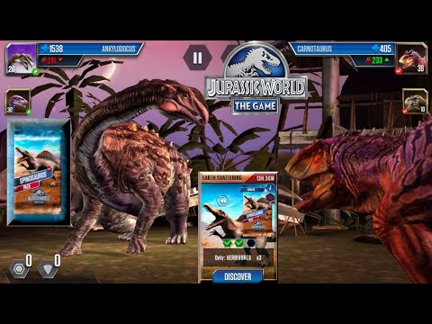 EARTH SHATTERING HERBIVORES ONLY BATTLE FOR SPINOSAURUS PACK - JURASSIC WORLD THE GAME  