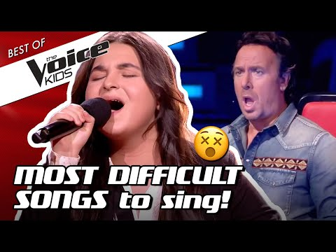 TOP 10 | The HARDEST SONGS to sing in The Voice Kids! 😵(part 3)