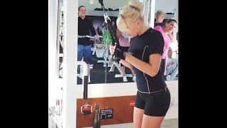 Тренировка Илоны в тренажерном зале
