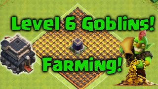 Clash of Clans - Level 6 Goblins TH9 Farming Attack Strategy!