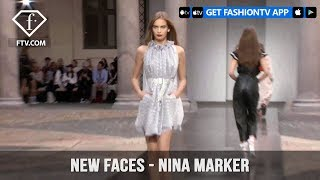 Nina Marker from Top Models in the World New Faces Spring/Summer 2018 | FashionTV | FTV