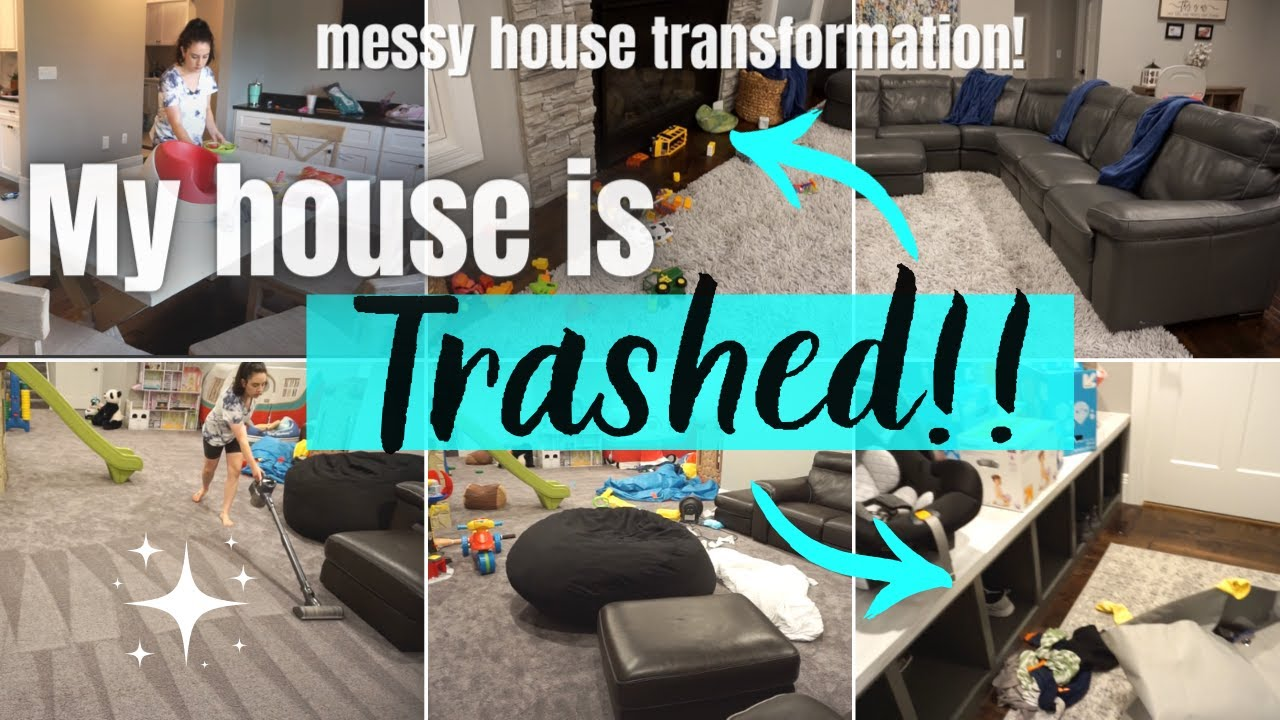 😵 MESSY HOUSE TRANSFORMATION!! | COMPLETE DISASTER CLEAN WITH ME 2020 | ULTIMATE CLEANING MOTIVATION