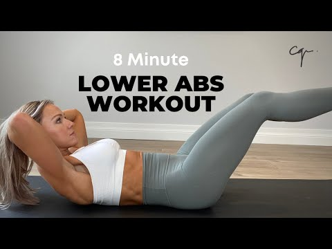 Lower Abs Workout   8 Minutes at Home