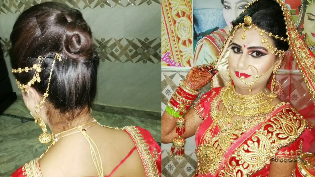 Bridal Hairstyle With Crimping New Style Front Hair 2018 In Hindi
