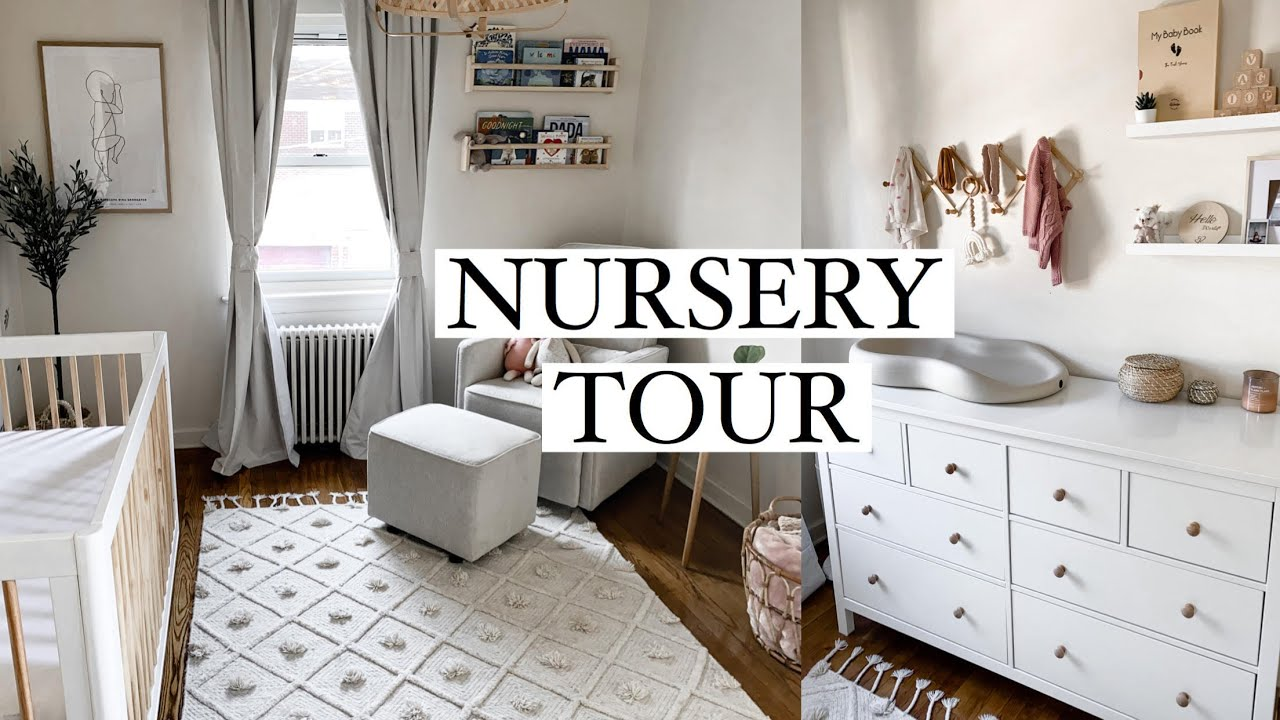 My Nursery Tour 2020 (Neutral Baby Girl) - YouTube