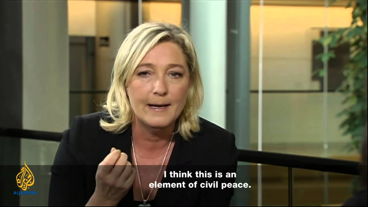 marine le pen transcript marine world