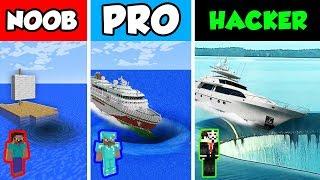 Minecraft NOOB vs PRO vs HACKER : SINKING BOAT in Minecraft Animation!
