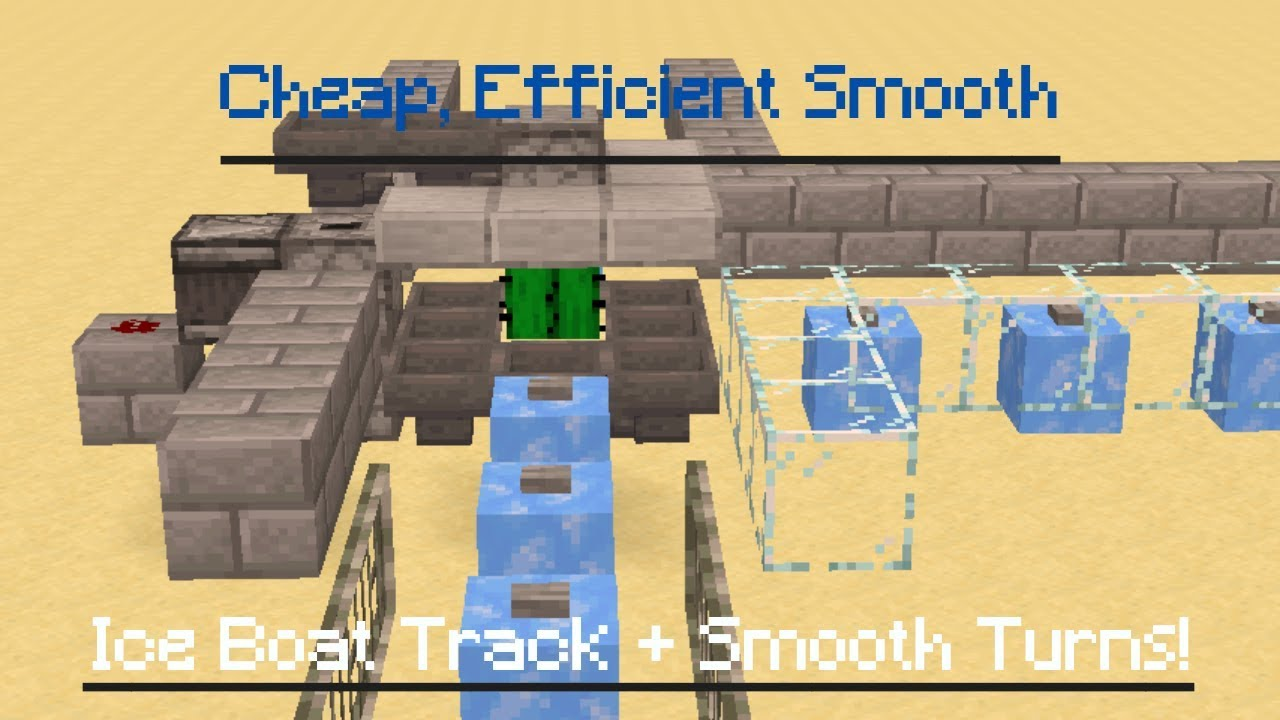 Cheap And Efficient Travel In Minecraft Ice Boat Turns Youtube When mined without a tool enchanted with silk touch it will drop nothing. cheap and efficient travel in minecraft ice boat turns
