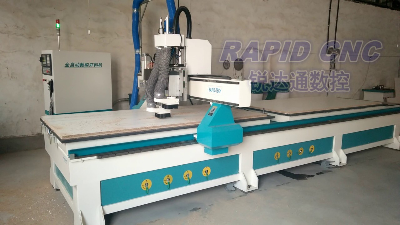 Atc 2 Spindle Cnc Router With Drilling Head Cnc Woodworking Machine