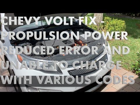 Chevy Volt Fix Propulsion Power Reduced Youtube