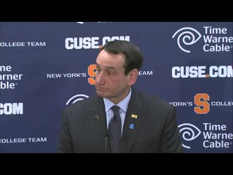 Coach Krzyzewski Comments on Duke Loss - Syracuse Men