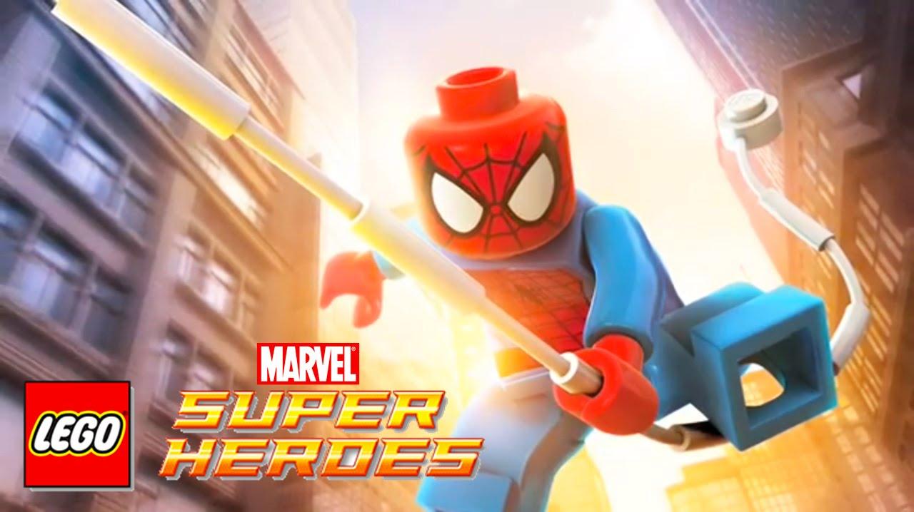 SPIDERMAN Cartoon Video Game | Spider Man Videos For Children | LEGO Marvel  Super Heroes   YouTube