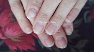 How to Shape Natural Square Nails in to Almond Shape Simple Manicure