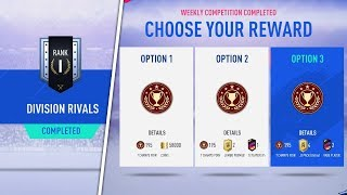 DIVISION RIVALS RANK 1 REWARDS! (DIVISION 5) FIFA 19 ULTIMATE TEAM