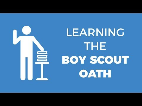 Let's Memorize the Boy Scout Oath - Animated Memory Activity