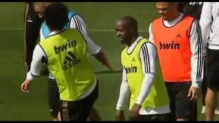 Marcelo bites Karim Benzema in Training Session 2012