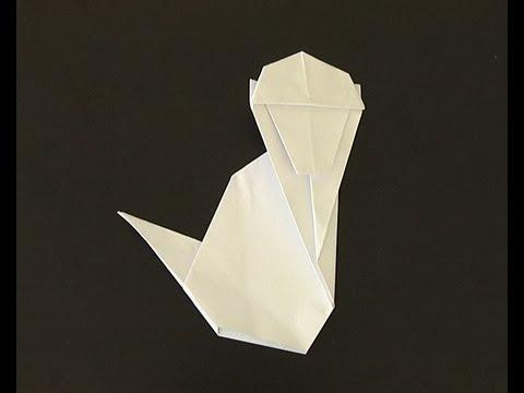 Origami Pliage Papier Singe Youtube