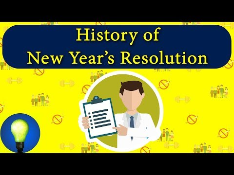 How did the tradition of New Year resolutions start? in Hindi