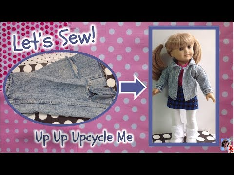 Denim Jacket For Your American Girl Doll Or 18 Inch Doll, Recycled Or Upcycled From Your Closet,