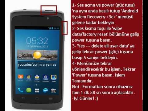 Türkcell T40 Hard Reset (Format)