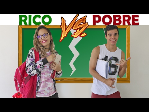 RICO VS POBRE NA ESCOLA! - KIDS FUN