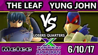 Melee - The Leaf (Marth) Vs. Yung John (Falco) Spring Arcadian Losers Quarters