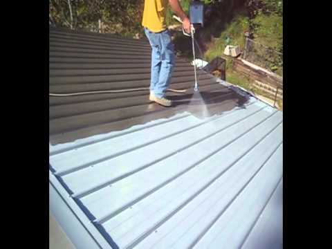 Metal Roof Restoration Using Nutech Paint Avi