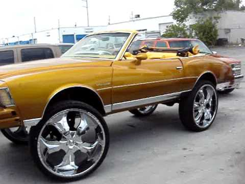 2 DOOR 1979 CHEVY MONTE CARLO CANDY GOLD CONVERTIBLE ON 30 RIMS