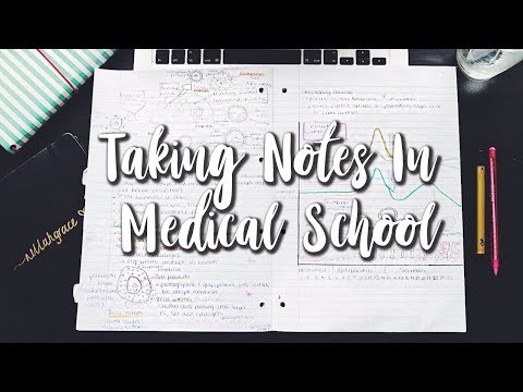 How to take GOOD NOTES in MEDICAL SCHOOL  (Updated 2018)
