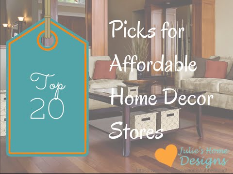 My Top 20 Affordable Home Decor Stores