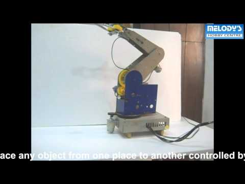 FOUR AXIS ROBOTIC ARM, melodyprojects.com, manoj kumar magoo