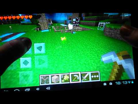 Играем в Minecraft на планшете Монстры отакуют!
