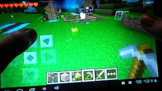Играем в Minecraft на планшете 'Монстры отакуют!'
