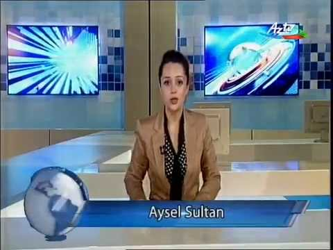 Daily English News Program on Azerbaijan Television (AzTV) by Aysel Sultan