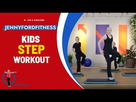 KIDS Step WORKOUT 1 of 2 FITNESS EXERCISE - JENNY FORD