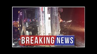 Tour bus crash on New Mexico interstate leaves multiple people hurt