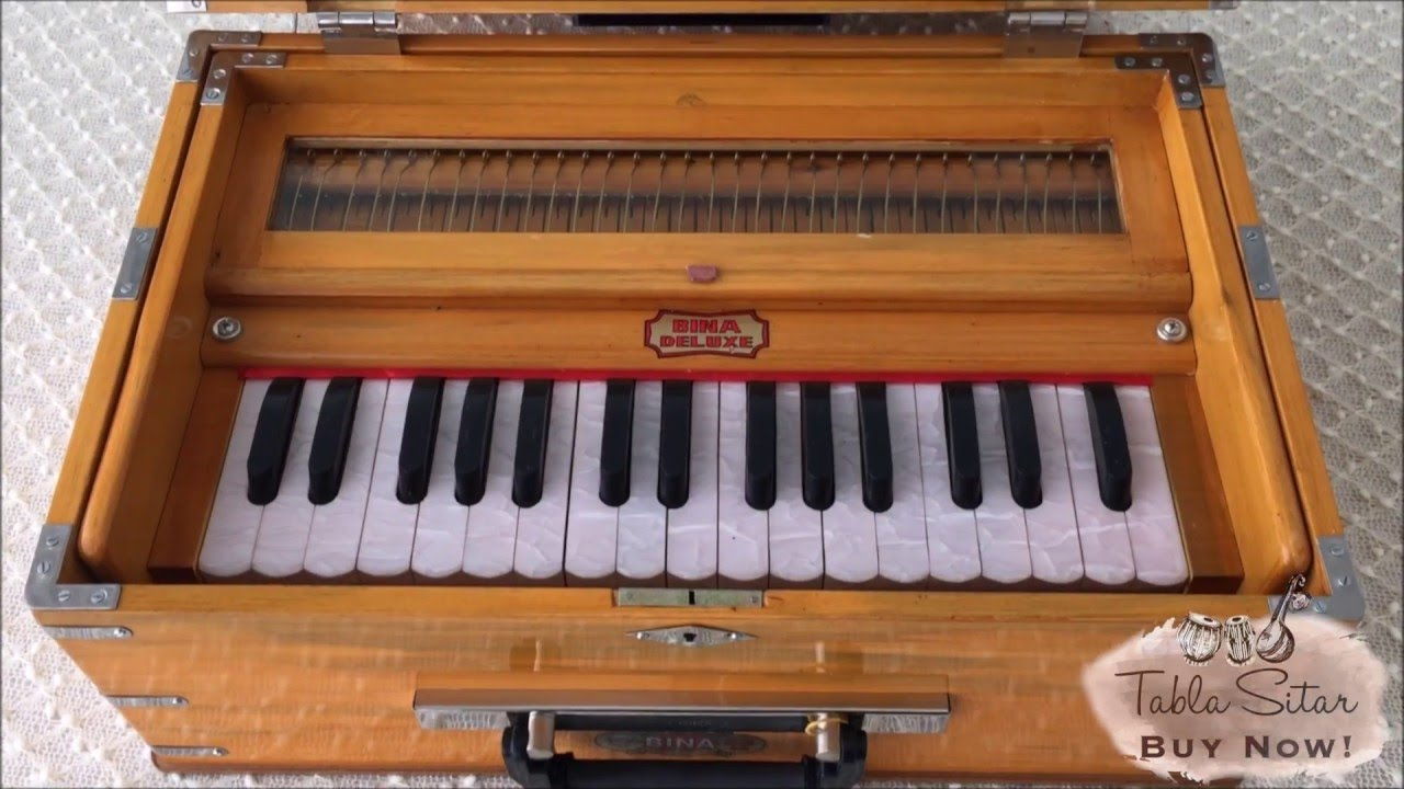 buy Bina No  23B Deluxe Harmonium (Small) 2½ Octaves - Tabla Sitar Musicals