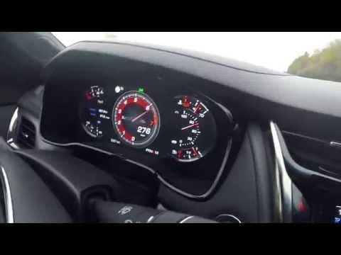 2016 Cadillac CTS-V 300 kph on autobahn