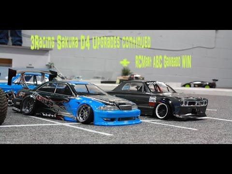 3Racing Sakura D4 Upgrades continued and RCMart ABC Gambado WIN VS_Customs SoCrawl.com