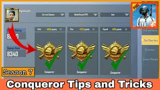 Conqueror Tips and Tricks for Season 7 | PUBG Mobile Lite