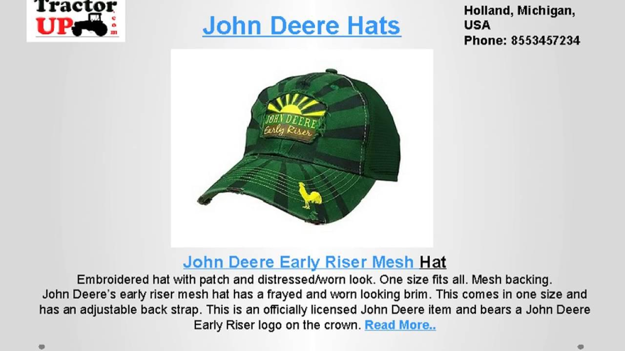 68c833468ae22 John Deere Hats - YouTube