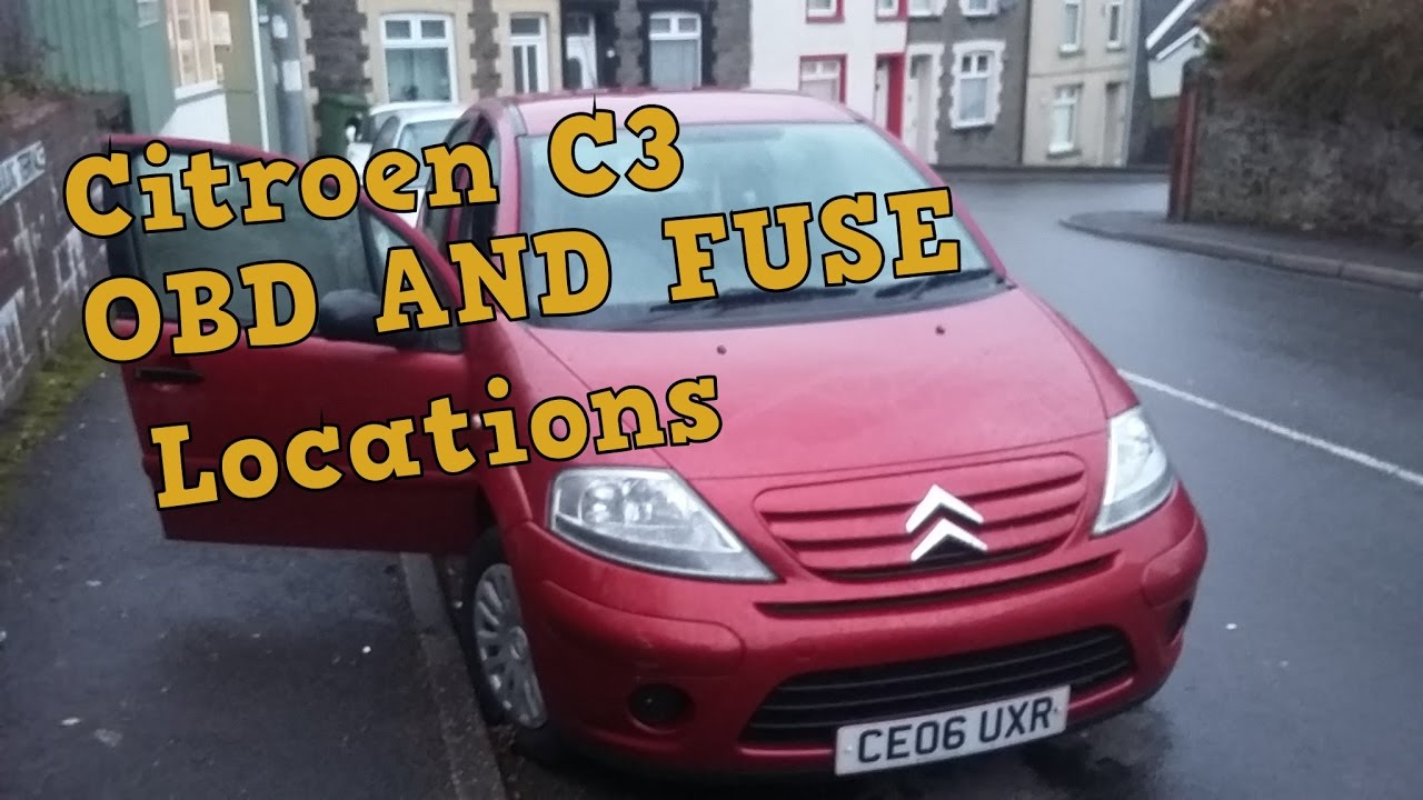 citroen c3 obd and fuse locations youtubeC3 Fuse Box #12