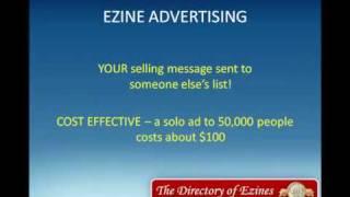 Earn money online directory of ezines (http://tinyurl.com/2cf9hpx)
