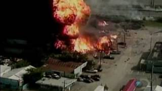Oxyacetilene canister plant in texas blowing up