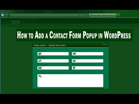 Wordpress Popup Contact Form | Popup Contact Form 7 Or Popup Any