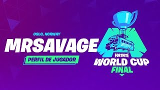 Fortnite World Cup - Perfil de jugador - MrSavage